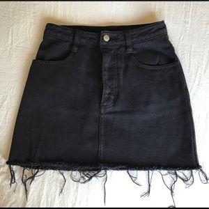 Brandy Melville Black Jean Skirt